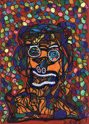 A Really Bad Trip, Pen-and-ink drawing by Darrell Black