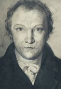 Detail from self-portrait of William Blake