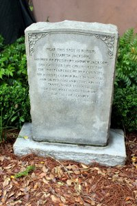 Photo of Memorial Marker for Elizabeth Jackson, mother of President Andrew Jackson