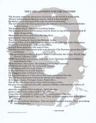 "Broadside of ""They Are Looking for Che Guevara"" by Steve Kowit"