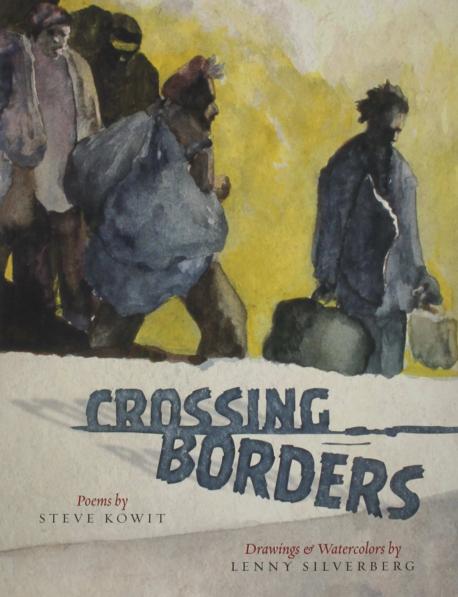 Cover photo of Crossing Borders by Steve Kowit and Lenny Silverberg