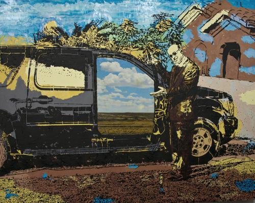 Mixed-Media Artwork, The Great Beyond, by Lucinda Luvaas