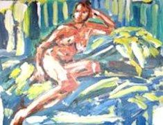 Life Study, a painting by Arthur Pinajian