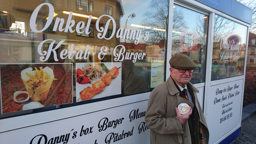 Photo of Thomas E. Kennedy at Onkel Danny's Burgers, by Dave Sorensen